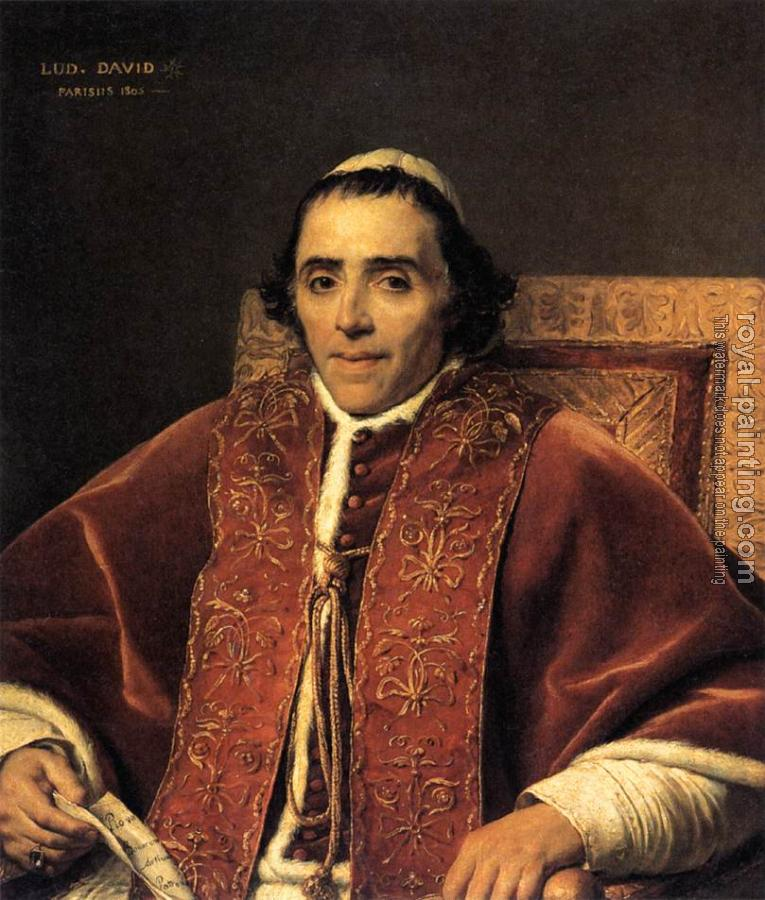 Jacques-Louis David : Portrait of Pope Pius VII