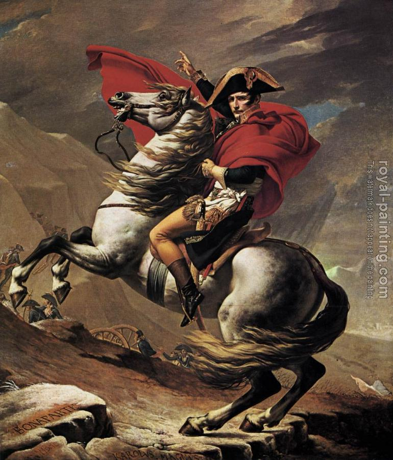 Jacques-Louis David : Napoleon at the St. Bernard Pass
