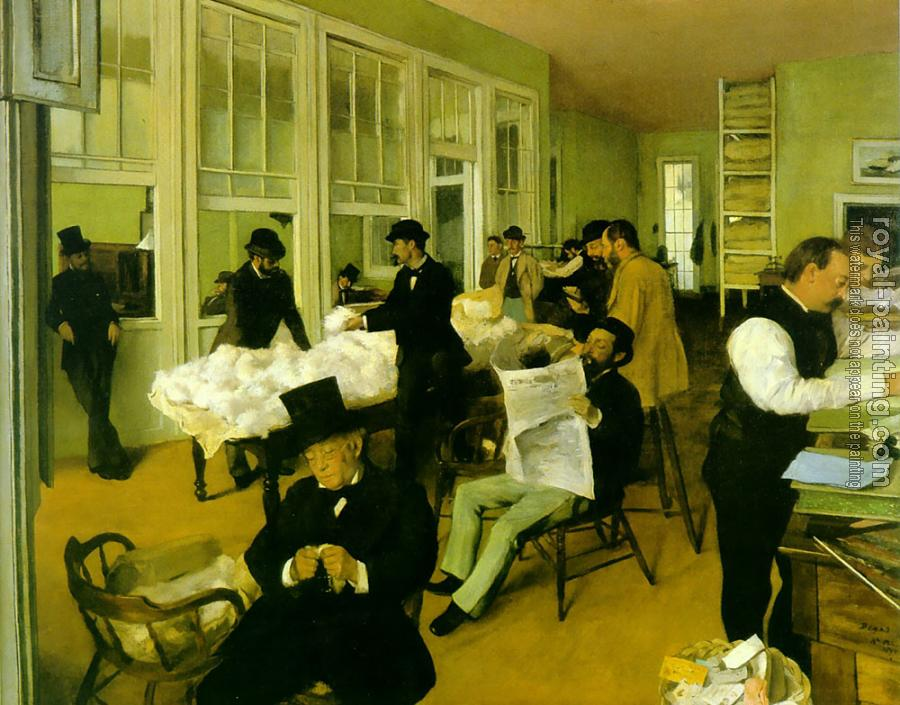 Edgar Degas : Portrait in a New Orleans Cotton Office