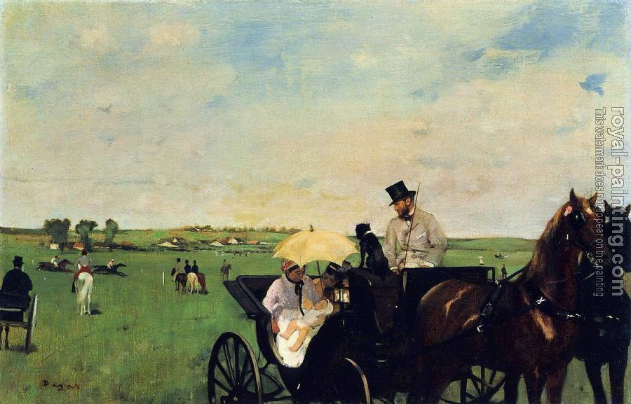 Edgar Degas : A Carriage at the Races