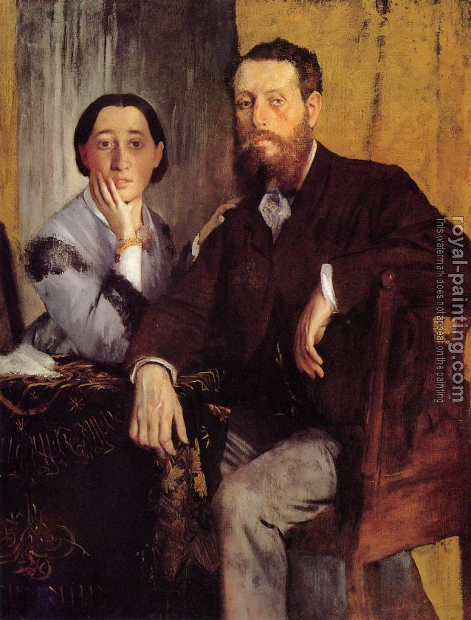 Edgar Degas : Edmond and Therese Morbilli
