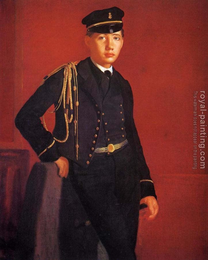 Edgar Degas : Achille De Gas in the Uniform of a Cadet