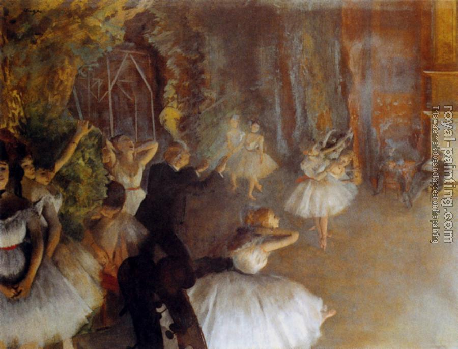 Edgar Degas : The Rehearsal Of The Ballet Onstage