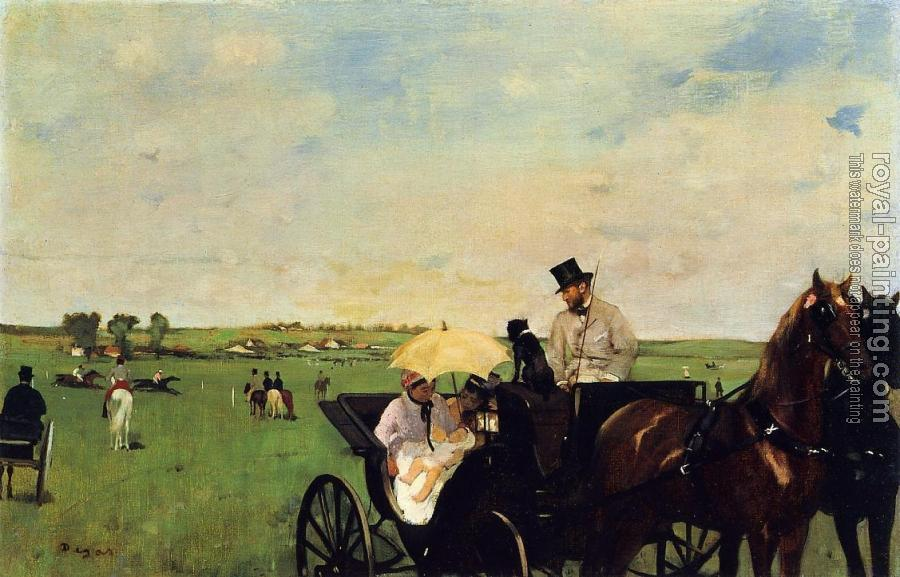 Edgar Degas : A Carriage at the Races II