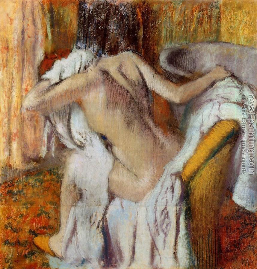 Edgar Degas : After the Bath, Woman Drying Herself II