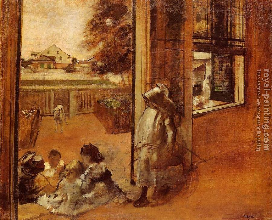Edgar Degas : Children on a Doorstep