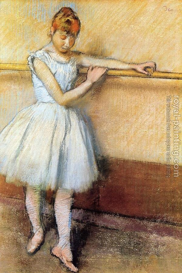 Edgar Degas : Dancer at the Barre II
