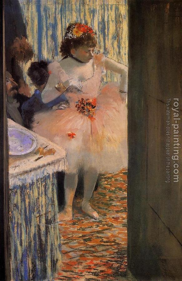 Edgar Degas : Dancer in Her Dressing Room II