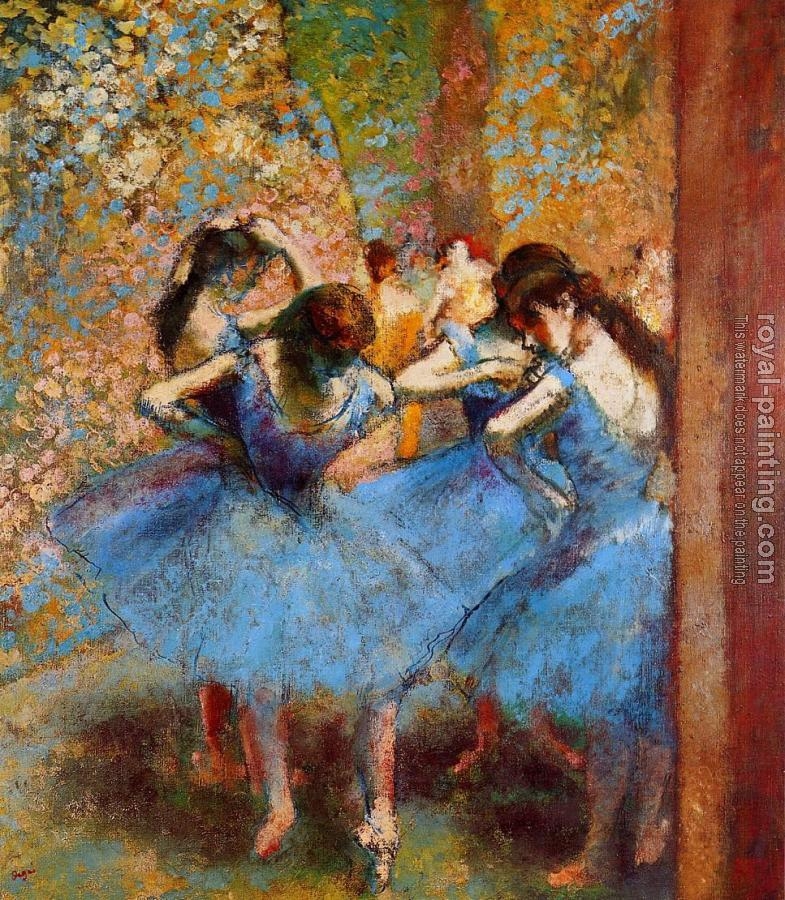 Edgar Degas : Dancers in Blue