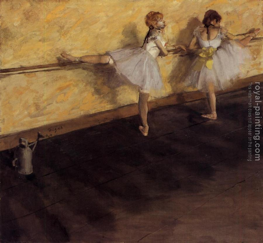 Edgar Degas : Dancers Practicing at the Barre
