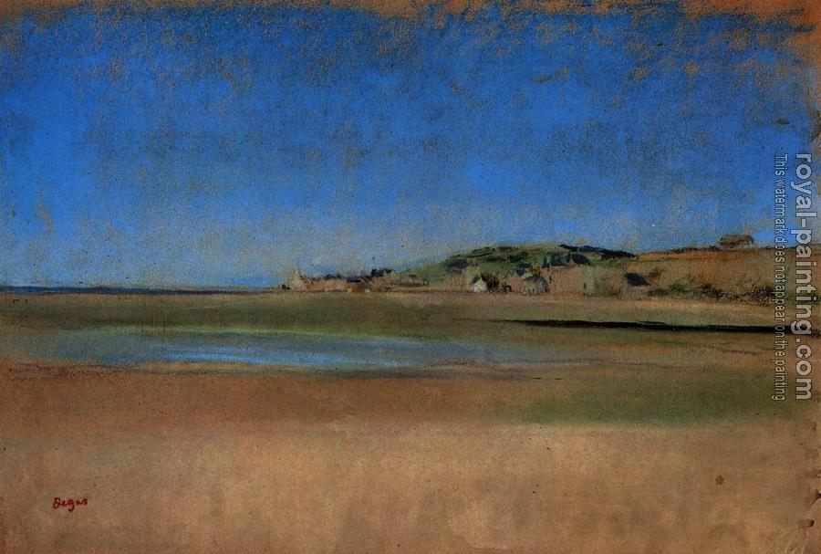 Edgar Degas : Houses by the Seaside