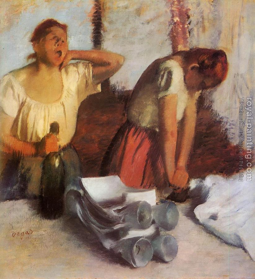 Edgar Degas : Laundry Girls Ironing II
