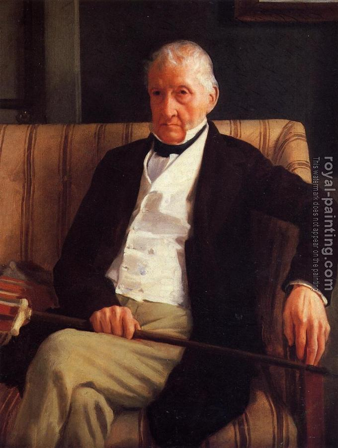 Edgar Degas : Portrait of Rene Hillaire De Gas, The Artist Grandfather