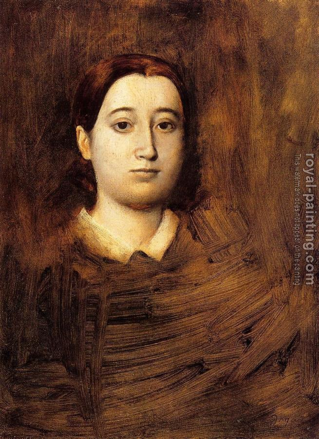 Edgar Degas : Portrait of Therese De Gas, The Artist Sister II