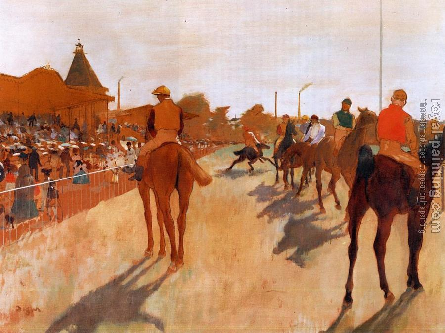 Edgar Degas : Racehorses before the Stands