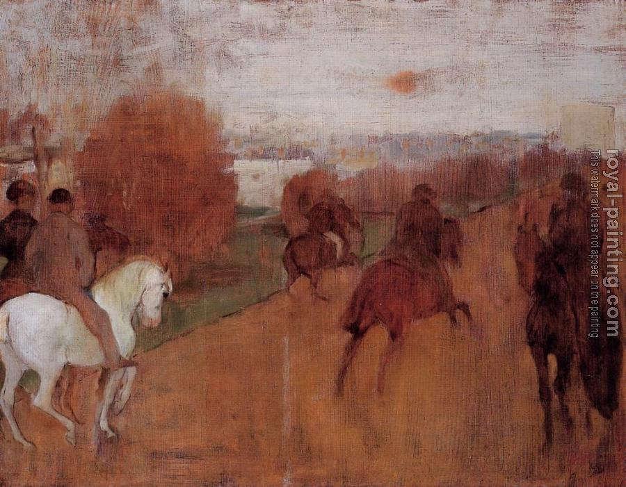 Edgar Degas : Riders on a Road