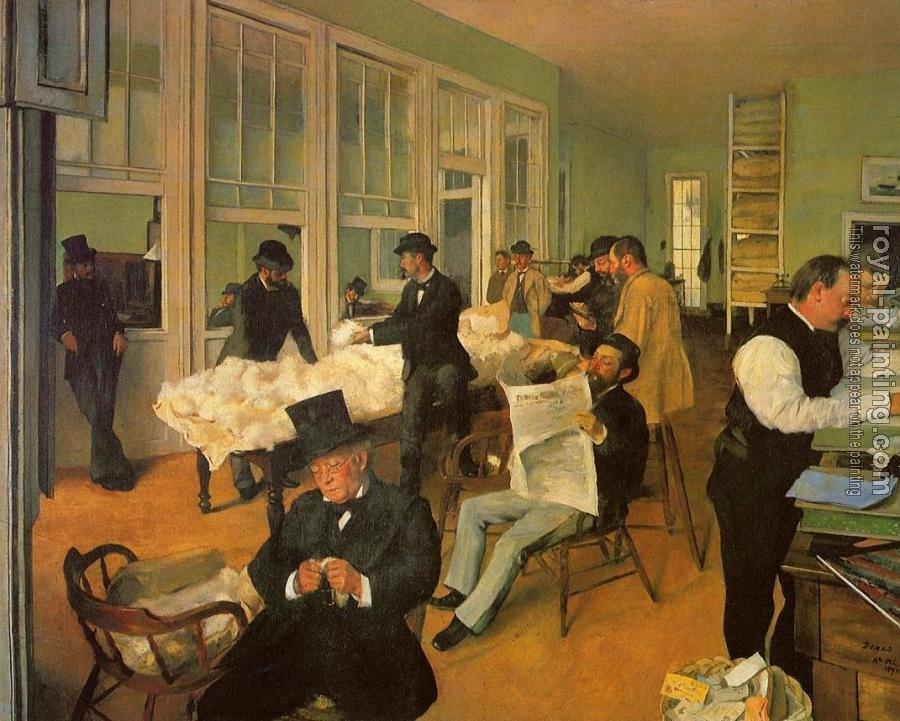 Edgar Degas : The Cotton Exchange in New Orleans