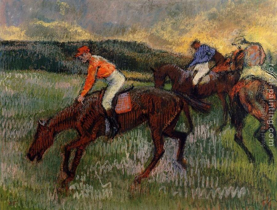 Edgar Degas : Three Jockeys