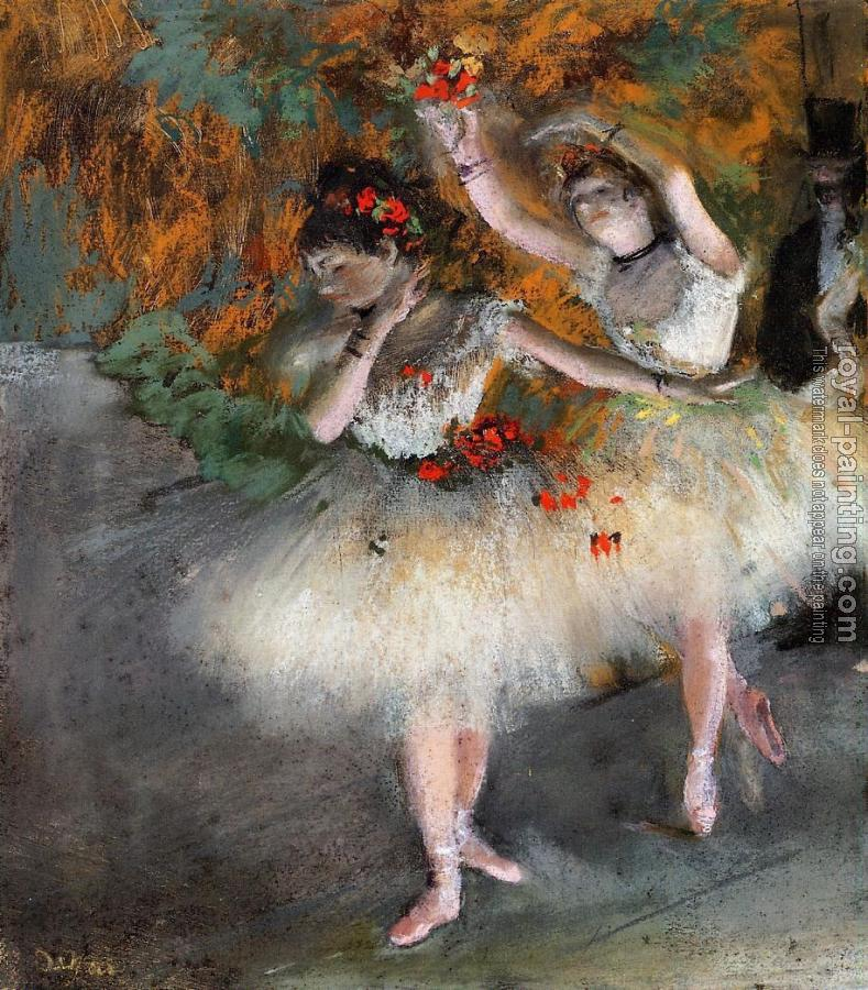 Edgar Degas : Two Dancers Entering the Stage