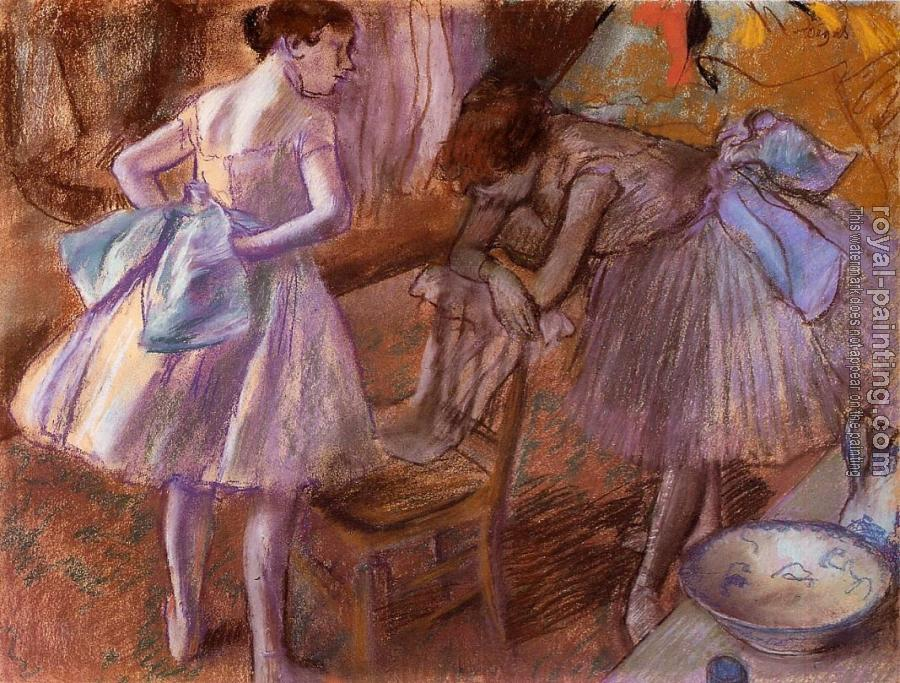 Two Dancers in Their Dressing Room