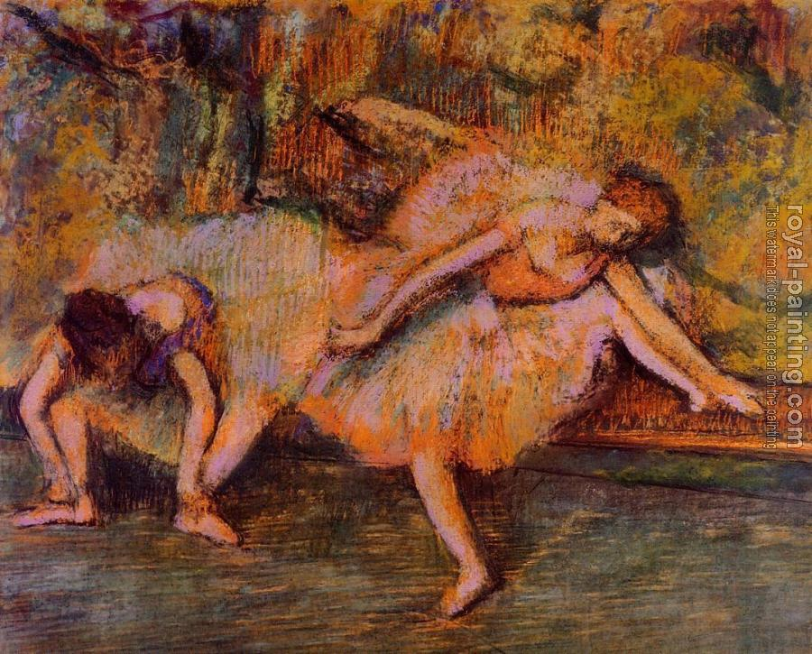 Edgar Degas : Two Dancers on a Bench