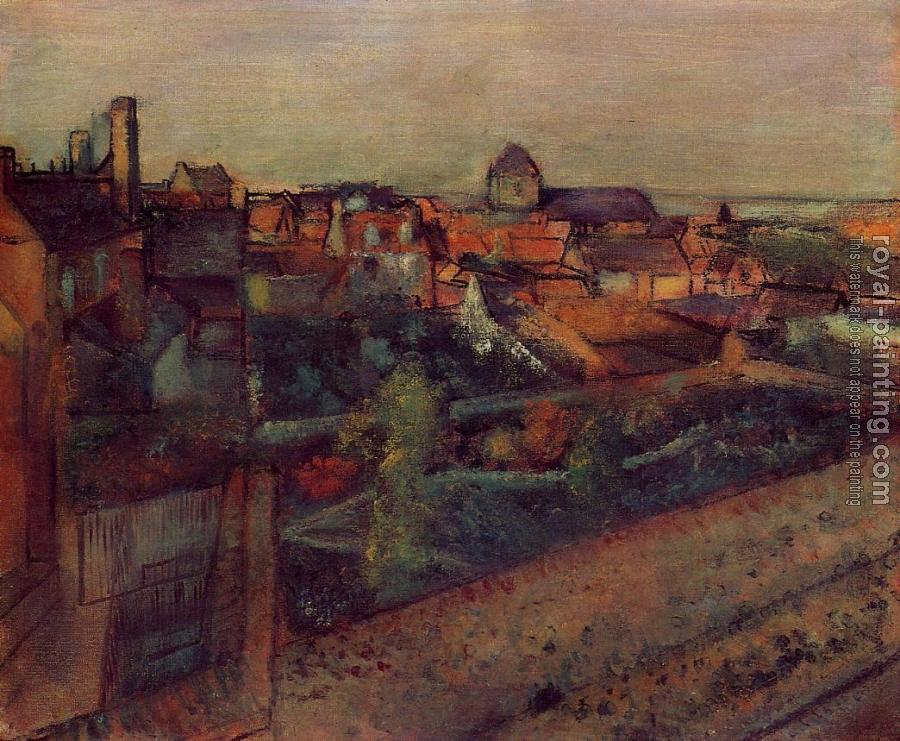 Edgar Degas : View of Saint Valery sur Somme