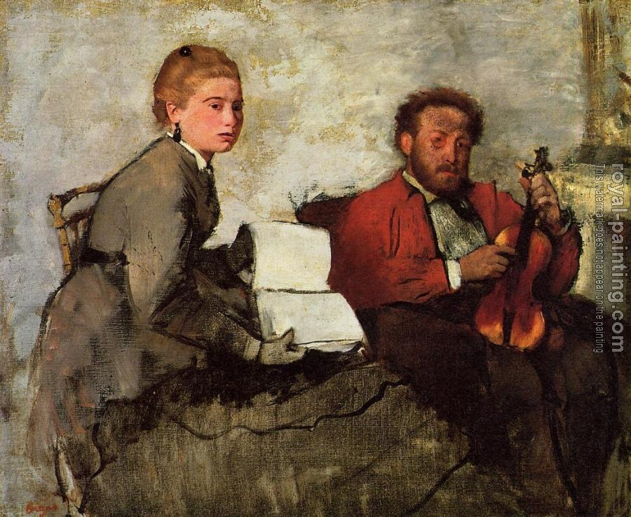 Edgar Degas : Violinist and Young Woman