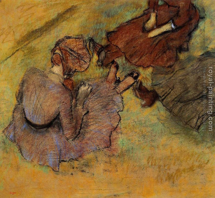 Edgar Degas : Woman Seated on the Grass