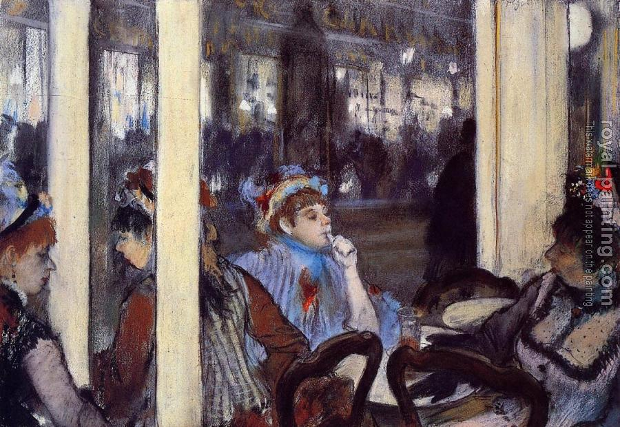 Edgar Degas : Women on a Cafe Terrace in the Evening