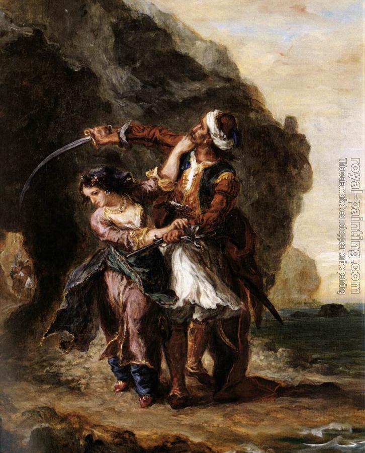 Eugene Delacroix : The Bride of Abydos