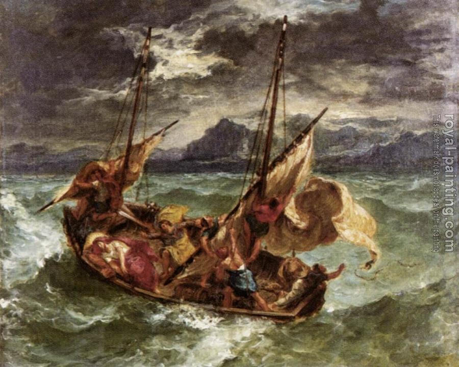 Eugene Delacroix : Christ on the Lake of Gennezaret