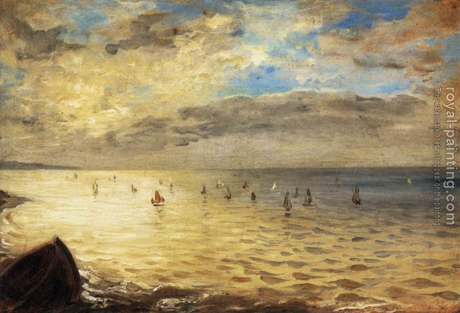 Eugene Delacroix : The Sea from the Heights of Dieppe
