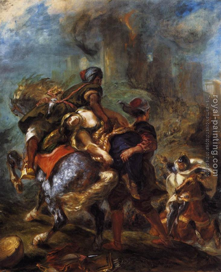 Eugene Delacroix : The Abduction of Rebecca