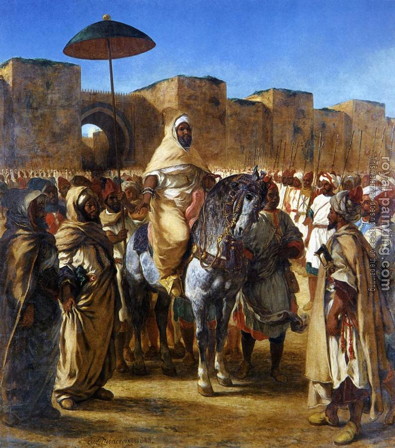 Eugene Delacroix : The Sultan of Morocco and his Entourage
