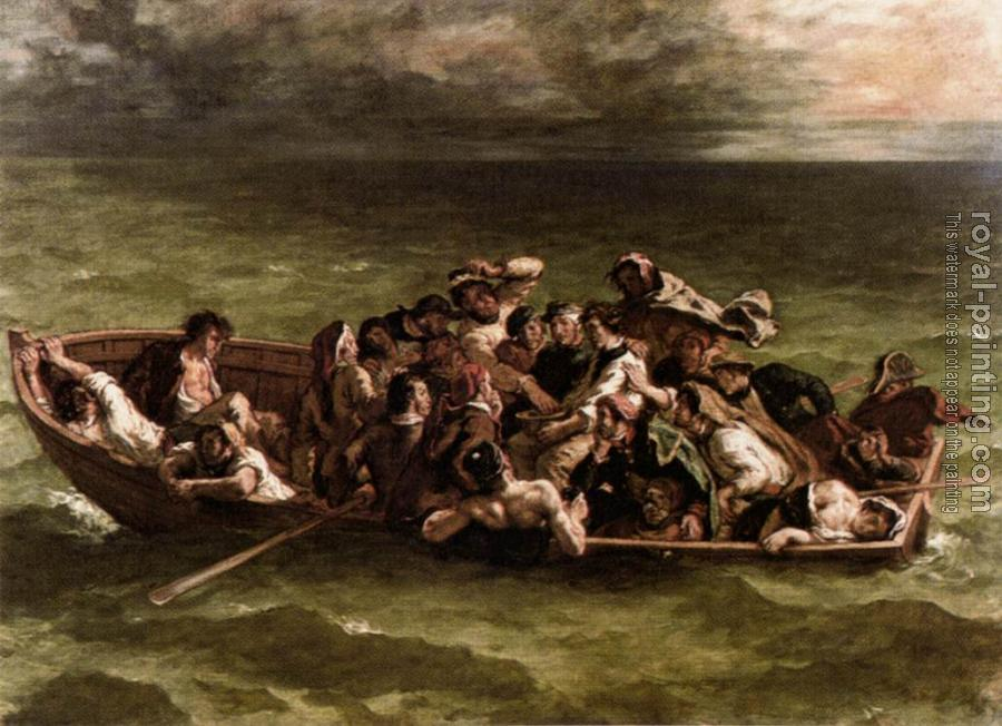Eugene Delacroix : Shipwreck of Don Juan