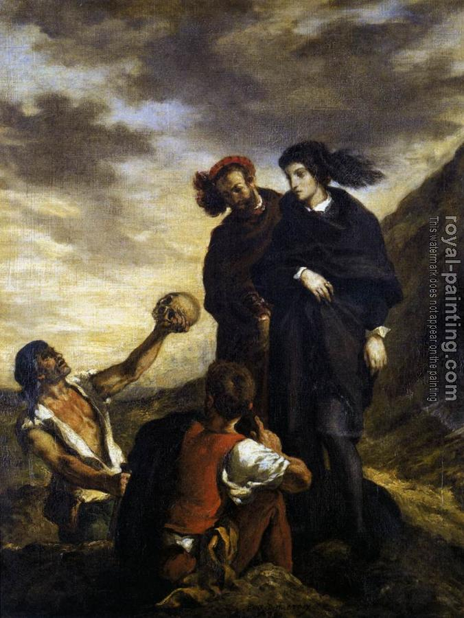 Eugene Delacroix : Hamlet and Horatio in the Graveyard