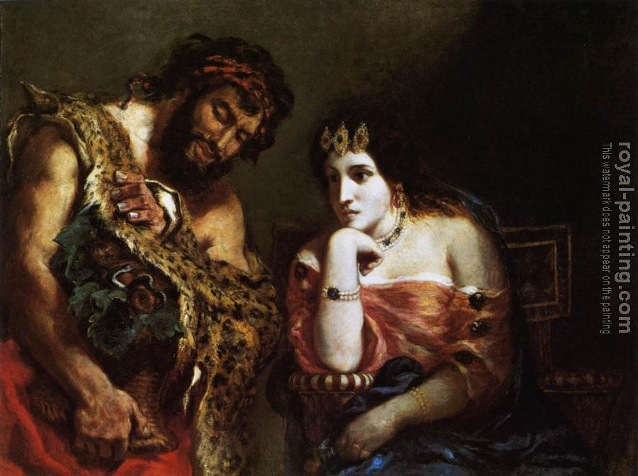 Eugene Delacroix : Cleopatra and the Peasant