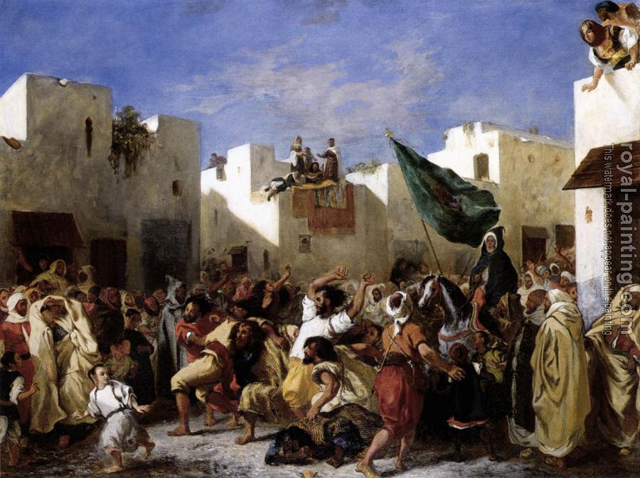 Eugene Delacroix : The Fanatics of Tangier