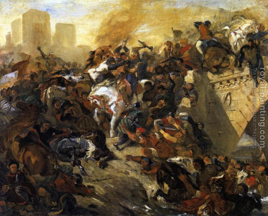 Eugene Delacroix : The Battle of Taillebourg (draft)
