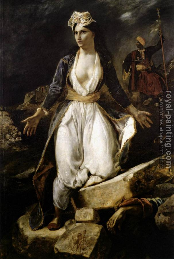 Eugene Delacroix : Greece on the Ruins of Missolonghi