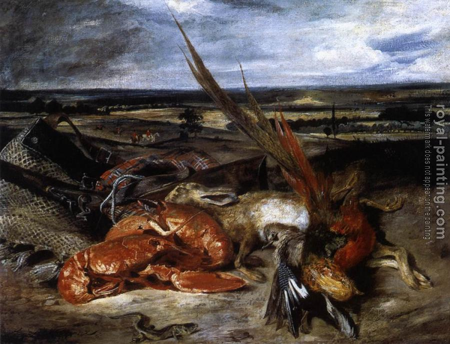 Eugene Delacroix : Still-Life with Lobster