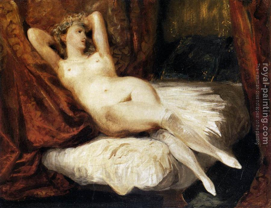 Eugene Delacroix : Female Nude Reclining on a Divan