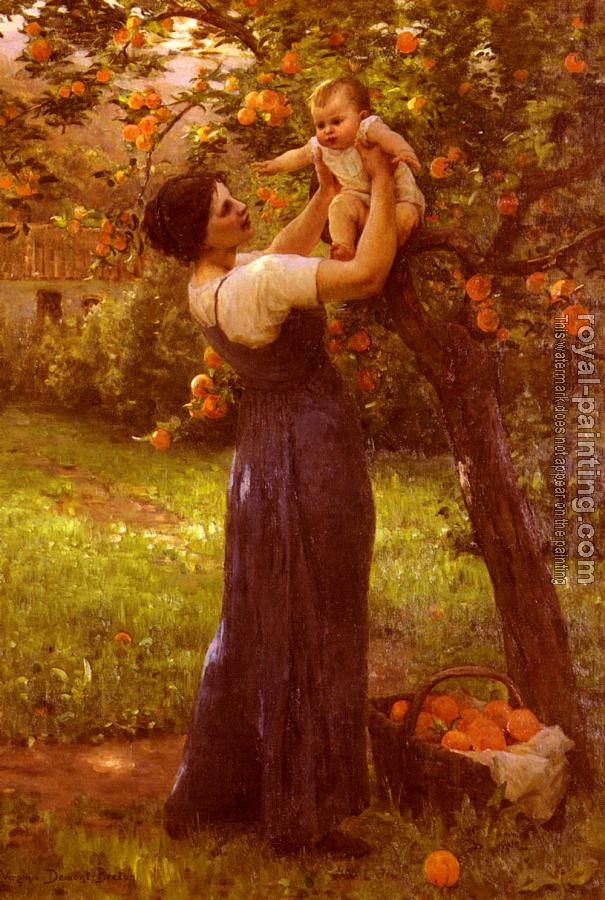 Hippolyte Camille Delpy : Mother and Child in the Garden