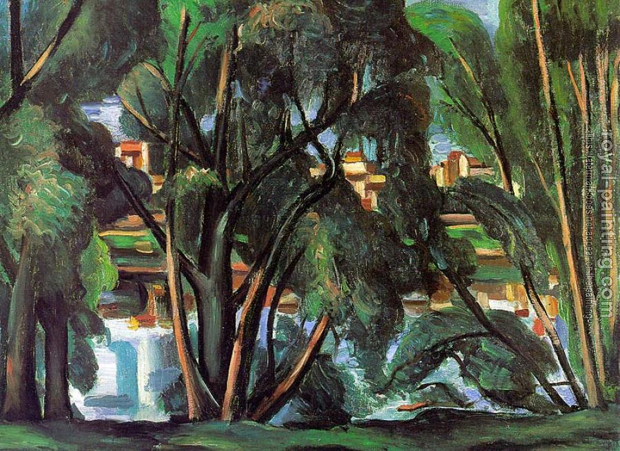 Andre Derain : Trees on the Banks of the Seine