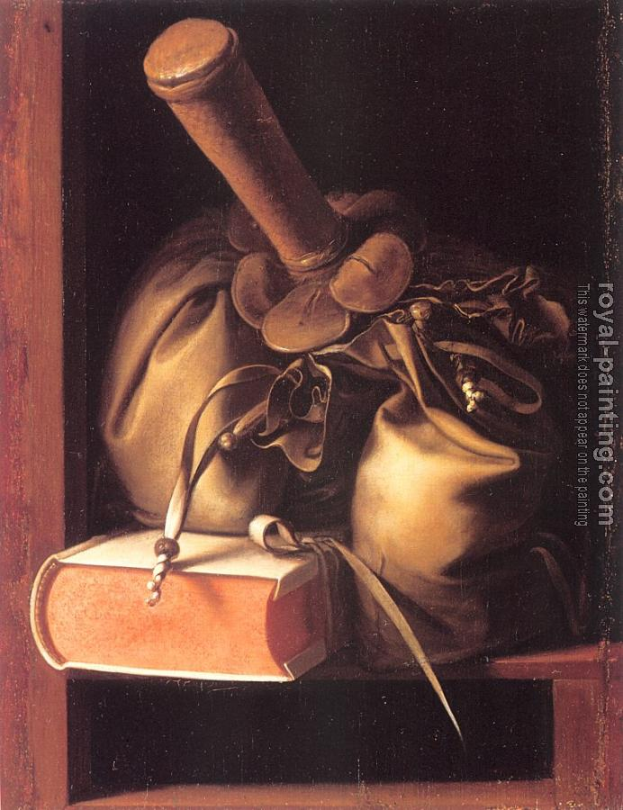 Gerrit Dou : Still Life with Book and Purse