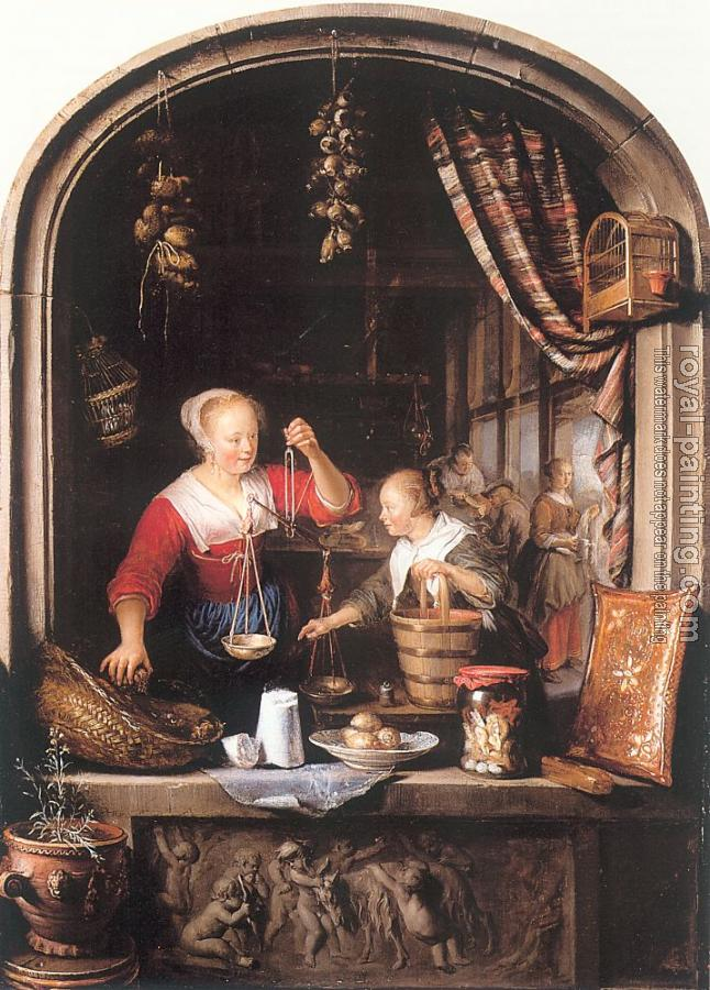 Gerrit Dou : The Grocery Shop