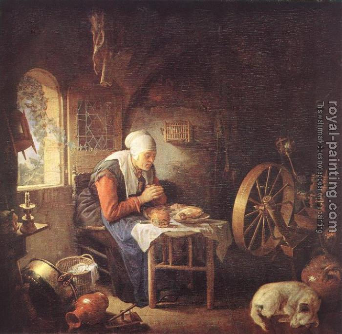 Gerrit Dou : The Prayer of the Spinner