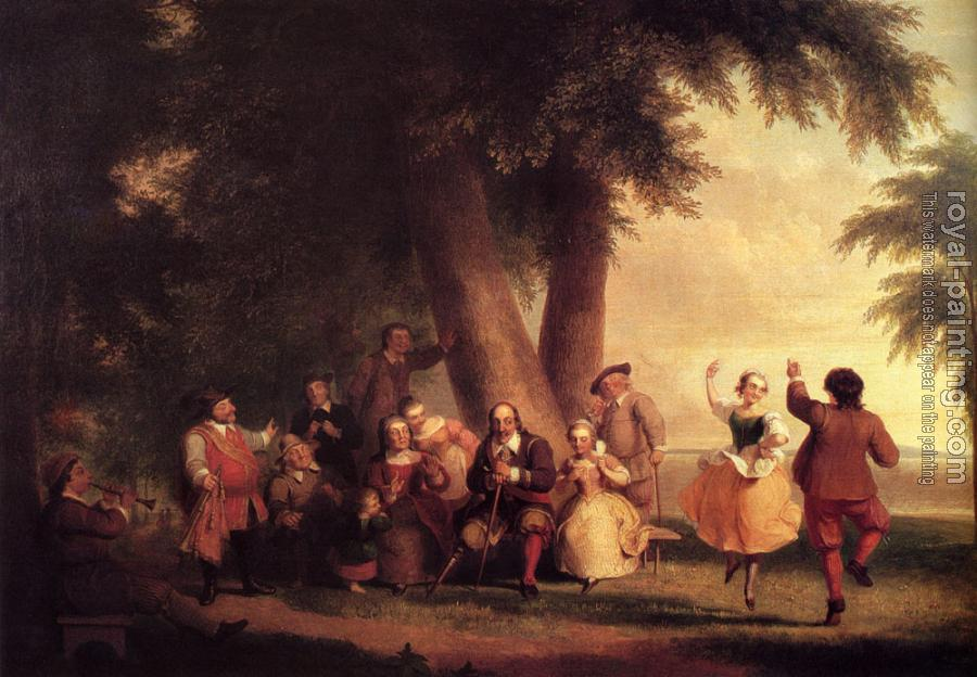 Asher Brown Durand : The Dance Of The Battery In The Presence Of Peter Stuyvesant