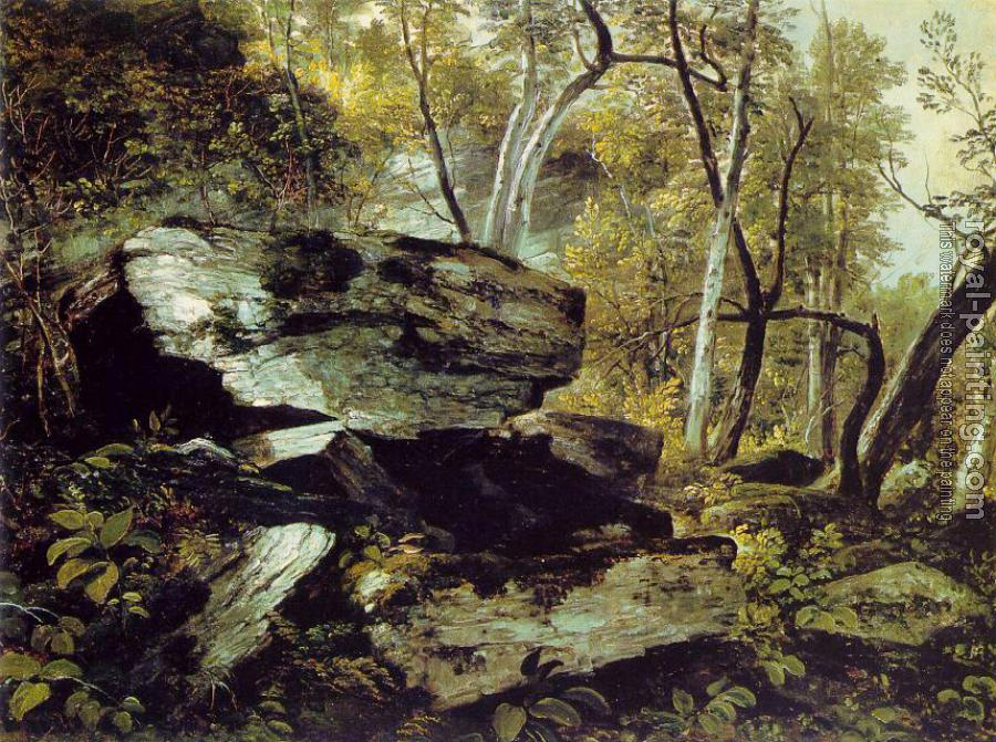 Asher Brown Durand : Study from Nature: Rocks and Trees