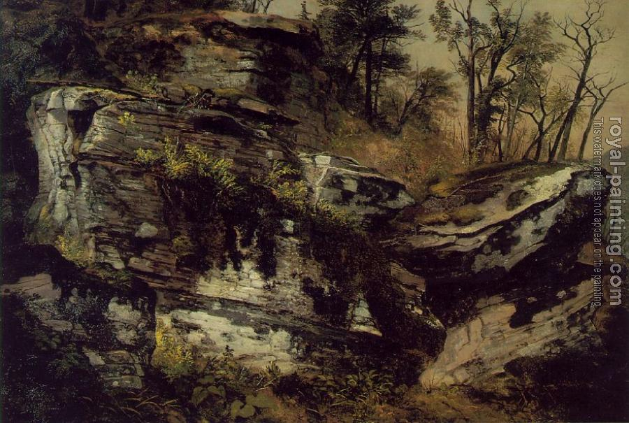 Asher Brown Durand : Rocky Cliff circa